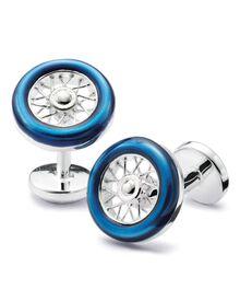 Blue wheel cuff link