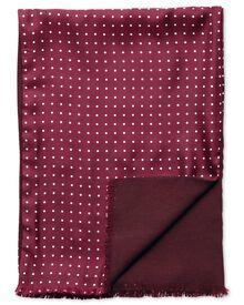 Burgundy dot silk scarf