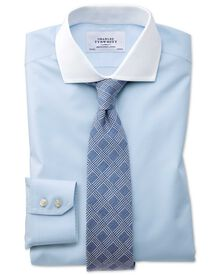 Slim fit spread collar non-iron Winchester sky blue shirt