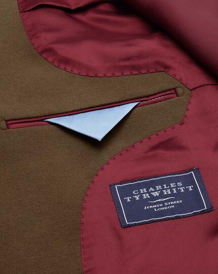 Slim fit camel cotton flannel jacket