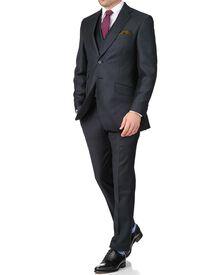 Blue puppytooth slim fit British serge luxury suit