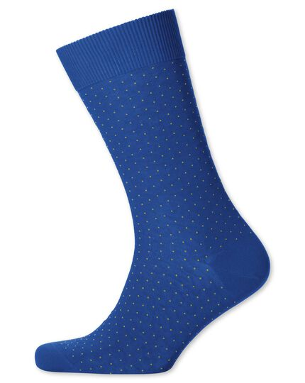 Royal blue micro dash socks