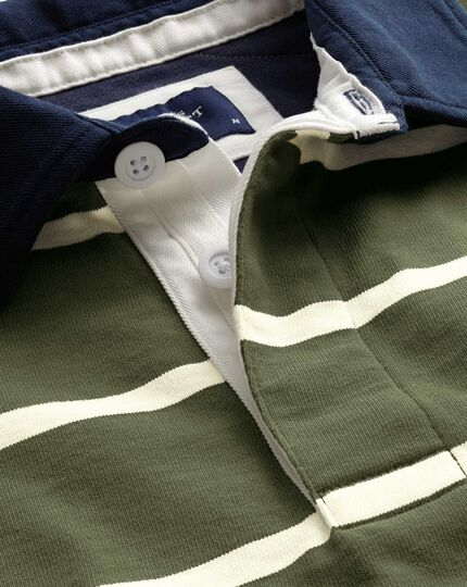 Olive stripe rugby shirt