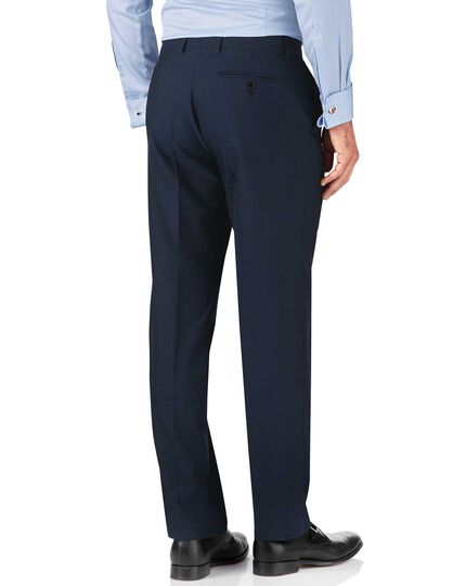 Blue classic fit British Panama luxury suit trouser