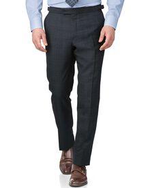 Blue slim fit thornproof luxury suit pants