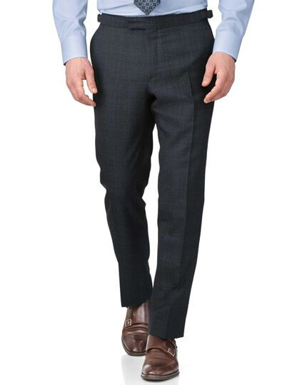 Blue slim fit thornproof luxury suit pants