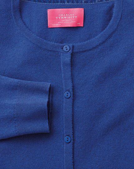 Royal blue merino cashmere cardigan
