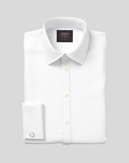 Slim fit luxury marcella white evening shirt