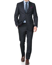 Blue slim fit thornproof luxury suit