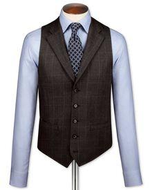 Dark grey saxony business suit waistcoat