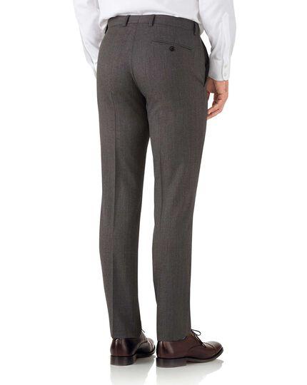 Mocha slim fit hairline business suit trouser