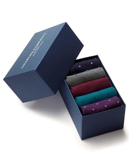 Multi dot sock gift box
