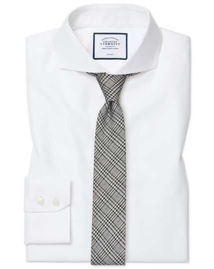 Extra slim fit extreme cutaway non-iron twill white shirt