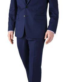 Classic Fit Businessanzug aus Twill in königsblau