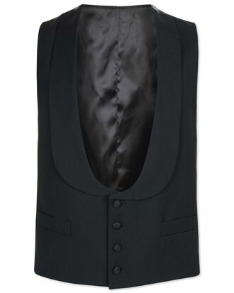 Black adjustable fit shawl collar tuxedo waistcoat