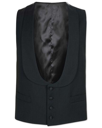 Verstellbare Smoking Weste mit Schalkragen in Schwarz