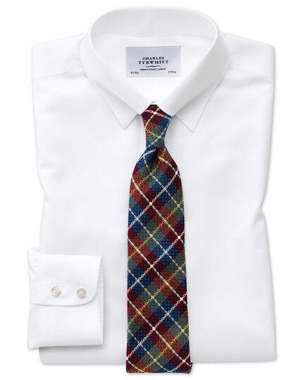 Slim fit tab collar non-iron white shirt