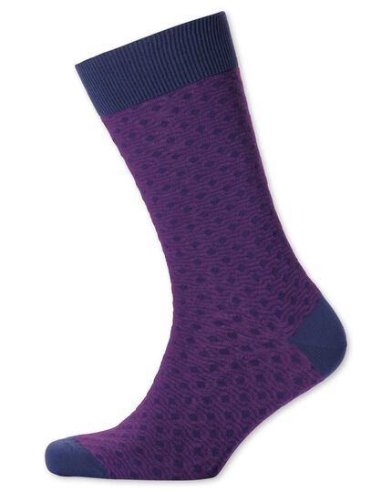 Purple geometric socks