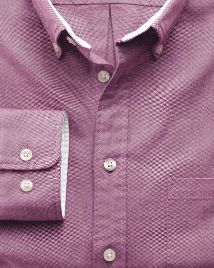 Slim fit berry washed Oxford shirt