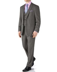 Grey classic fit end-on-end business suit