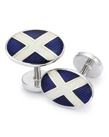 St Andrews flag enamel cuff links
