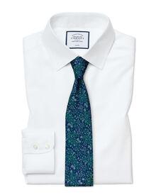 Bügelfreies Slim Fit Twill-Hemd aus in Weiß