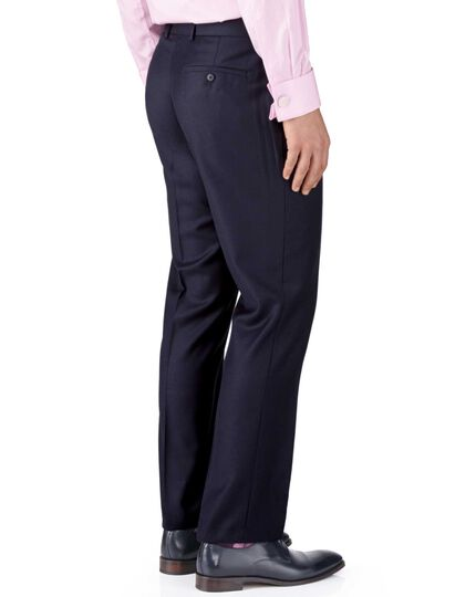 Ink classic fit birdseye travel suit trousers