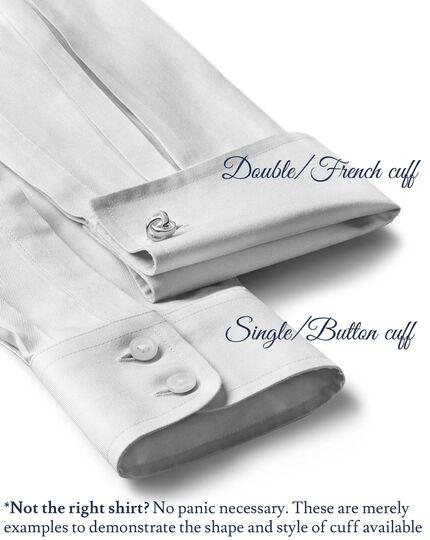Slim fit spread collar non-iron herringbone lilac shirt