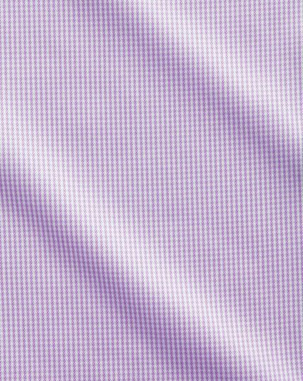 Slim fit cutaway collar non iron puppytooth lilac shirt