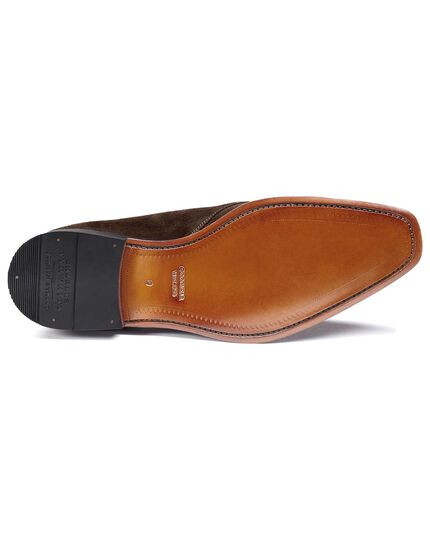 Brown Soho suede Derby shoes
