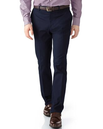 Navy extra slim fit stretch cavalry twill trousers