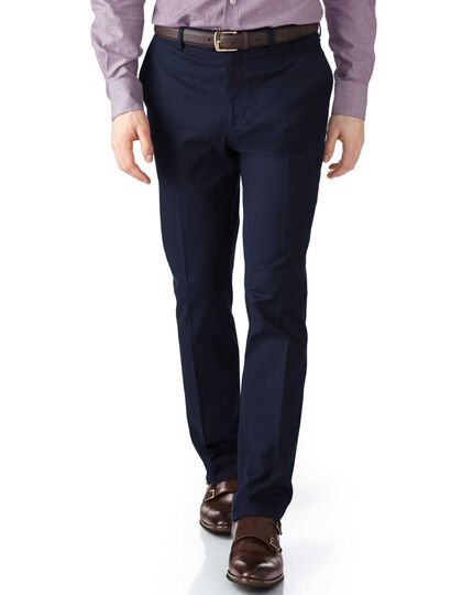 Navy extra slim fit stretch cavalry twill chinos