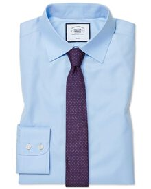 Extra slim fit non-iron twill sky blue shirt