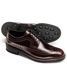 Ox blood Brunswick wingtip brogue Derby shoes