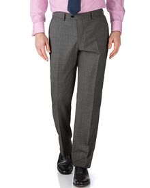 Grey slim fit end-on-end business suit pants