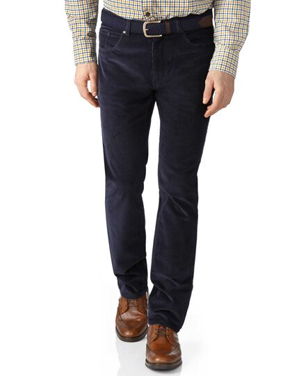 Dark navy slim fit stretch 5 pocket trousers