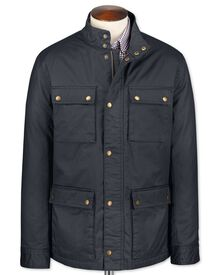 Classic fit navy weekend coat