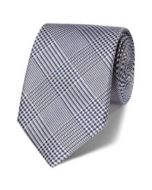 Navy silk classic Prince of Wales tie