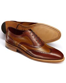 Brown Bloomsbury wingtip brogue Oxford co-respondent shoes