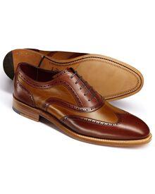 Brown Bloomsbury wingtip brogue Oxford co-respondent shoes