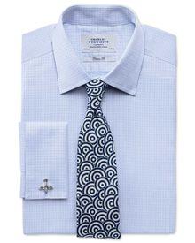 Classic Fit Hemd aus ägyptischer Baumwolle in Himmelblau mit strukturiertem Dobby