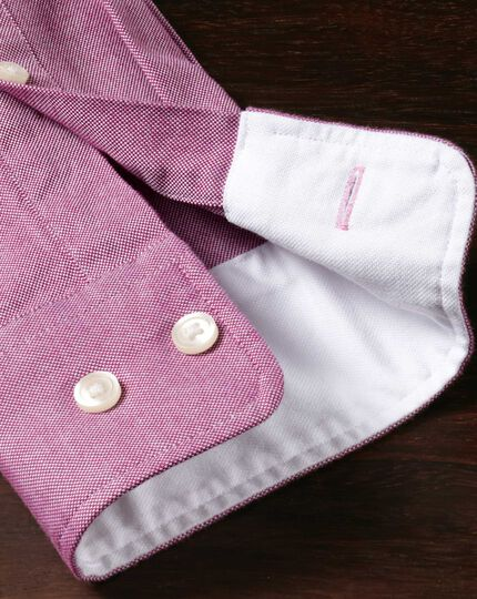 Extra slim fit berry washed Oxford shirt