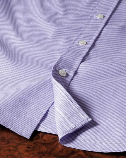 Slim fit Oxford lilac shirt