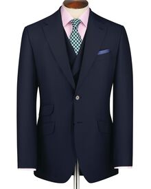 Navy slim fit Yorkshire worsted luxury jacket