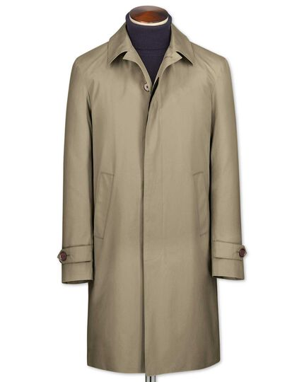 Classic fit stone raincoat