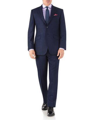 Royal classic fit flannel business suit