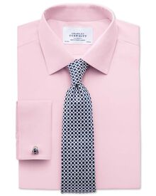 Slim fit non-iron poplin light pink shirt