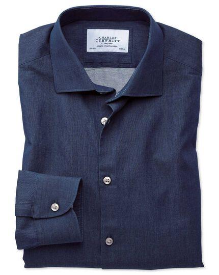 Extra Slim Fit Business-Casual Hemd in Indigo-dunkelblau