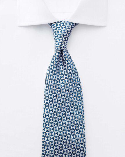 Classic fit semi-spread collar Regency weave white shirt