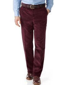 Wine classic fit jumbo cord pants